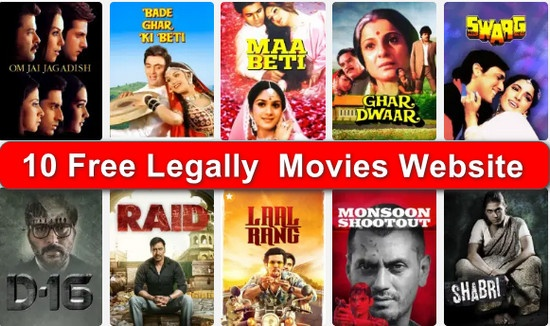 10 Free Legally Website, Online Movies देखने के लिए