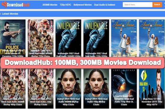 DownloadHub 2020 – 300MB Dual Audio Bollywood Movies Download